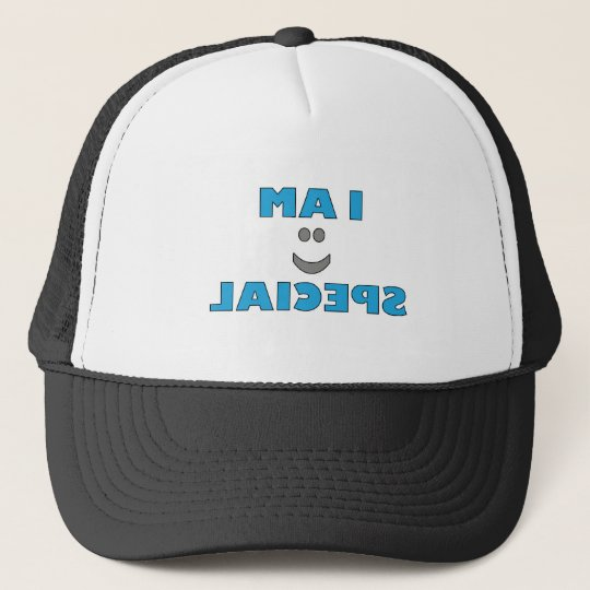 "MIRROR IMAGE! ""I AM SPECIAL"" TRUCKER HAT"