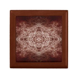 Mirror image tree pattern gift box
