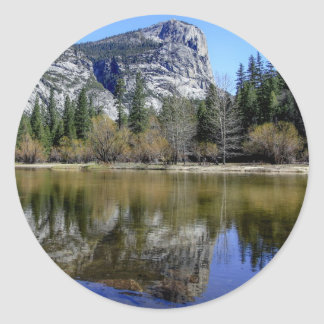 Mirror Lake Round Sticker