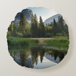 Mirror Lake, Yosemite Round Cushion