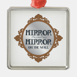 Mirror On The Wall Silver-Colored Square Decoration