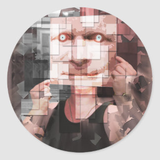 Mirror On The Wall Round Sticker