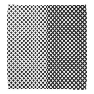 Mirror Opposites Black and White Polka Dot Bandana