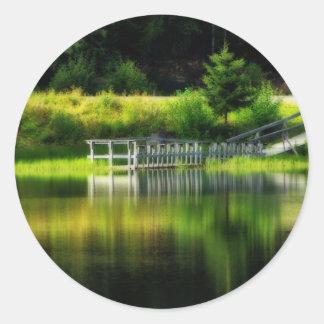 Mirror Pond Round Sticker