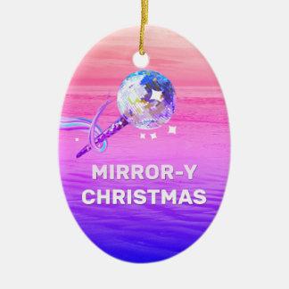 Mirror-y Christmas Christmas Ornament