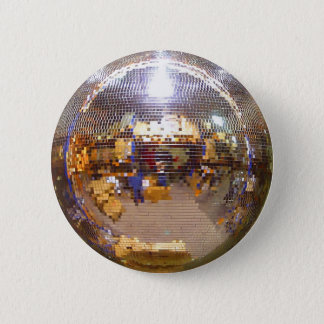 Mirrorball Disco Ball 6 Cm Round Badge
