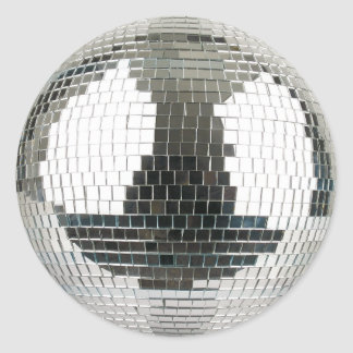 Mirrorball Disco Ball Round Sticker