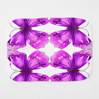 Mirrored Awareness Butterflies Burp Cloth