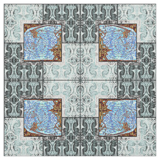 Mirrored Butterfly Squares Fabric