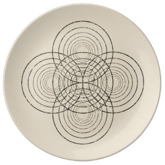 Mirrored circle plate