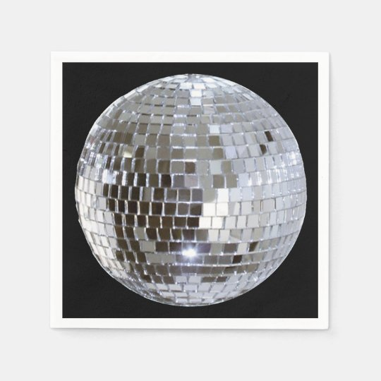 Mirrored Disco Ball 1 Disposable Napkin