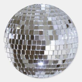 Mirrored Disco Ball 1 Round Sticker