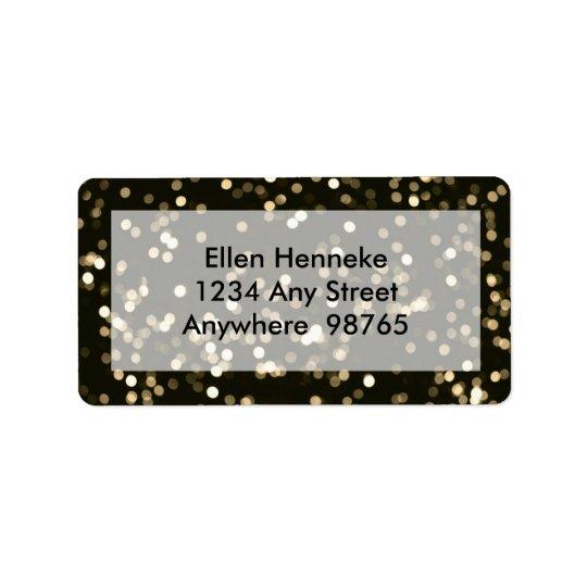 Mirrored Disco Ball 3 Address Label