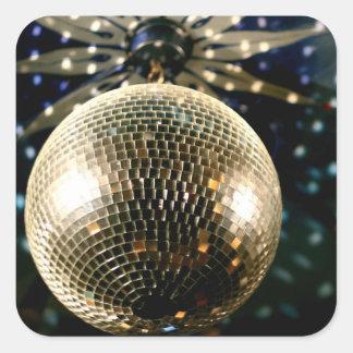 Mirrored Disco Ball 3 Square Sticker