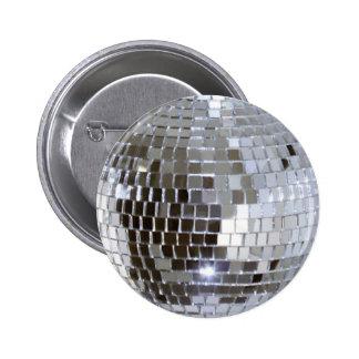Mirrored Disco Ball 6 Cm Round Badge
