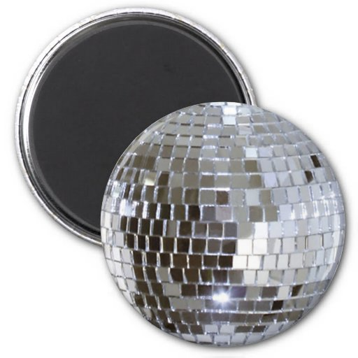 Mirrored Disco Ball Refrigerator Magnets