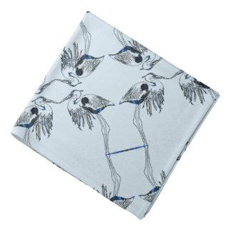Mirrored Herons Patterned Bandana