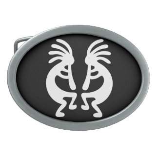 Mirrored Kokopelli Belt Buckles