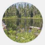 Mirrored Lake Round Stickers