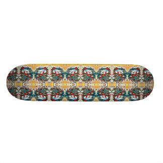 Mirrored Lion Heads Pattern 21.6 Cm Skateboard Deck