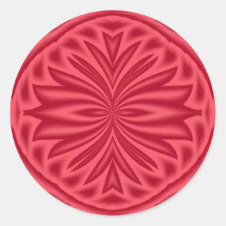Mirrored Red Tulip Round Sticker