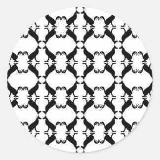 Mirrored wolves.JPG Classic Round Sticker
