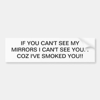 MIRRORS BUMPER STICKER