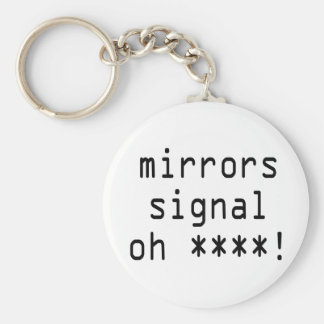 mirrors signal oh ****! basic round button key ring