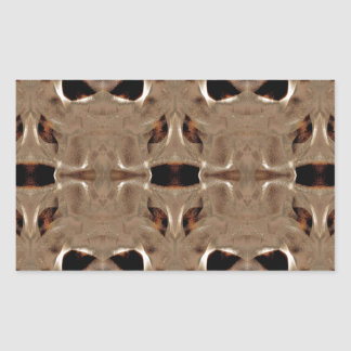 mirroruniverse martian symmetry rectangular sticker