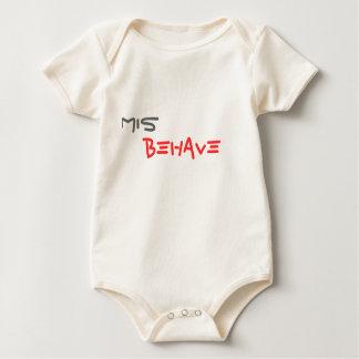 MIS, BEHAVE BABY BODYSUIT