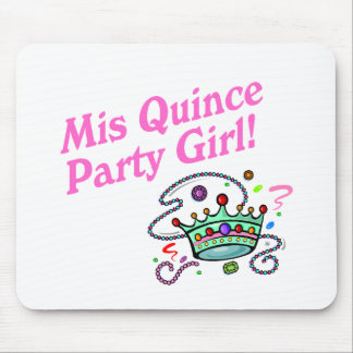 Mis Quince Party Girl Mouse Pad
