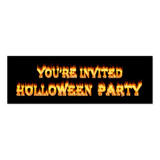 Mis Spelled Holloween Party Invitations in fire Pack Of Skinny Business Cards