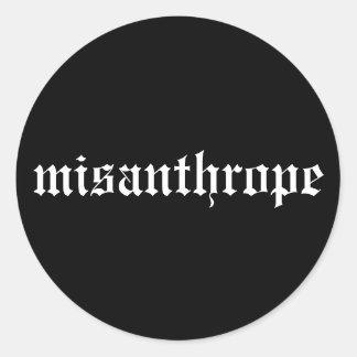 Misanthrope Black and White Sticker