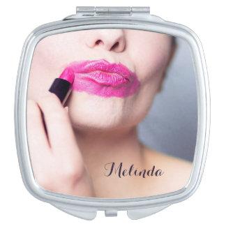 Misapplied Lipstick custom name pocket mirror