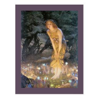 Misaummer Eve  Fairy Ring Postcard
