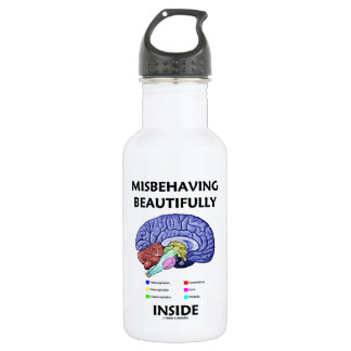 Misbehaving Beautifully Inside (Anatomical Brain) 532 Ml Water Bottle