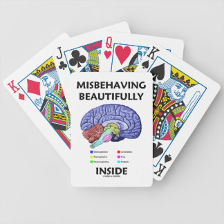 Misbehaving Beautifully Inside Anatomical Brain Playing Cards