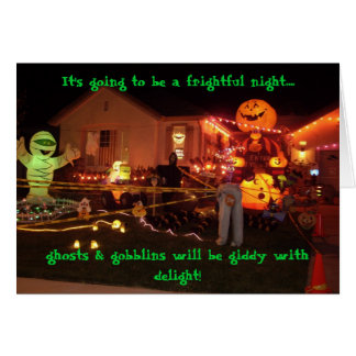 Misc 008, It's going to be a frightful night...... Greeting Card