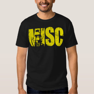 MISC Bodybuilding Shirt - Yellow Text