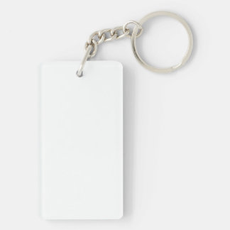 Misc Vertical Template Single-Sided Rectangular Acrylic Key Ring