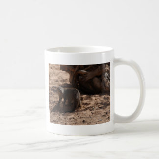 Miscellaneous - Banded Mongoose Pattern Basic White Mug
