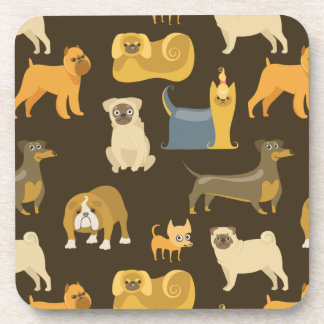 Miscellaneous dogs wallpaper drink coaster