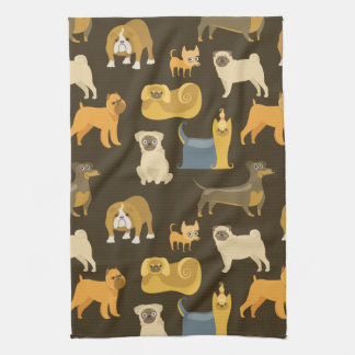 Miscellaneous dogs wallpaper hand towels