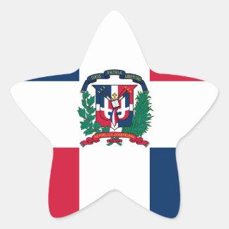 Miscellaneous - Dominican Republic Pattern Flag Star Sticker