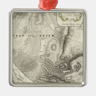 Miscellaneous geological maps christmas ornament