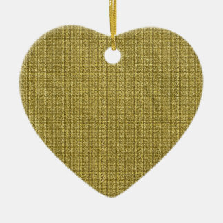Miscellaneous - Gold Textures Patterns Forty-Nine Ceramic Heart Decoration