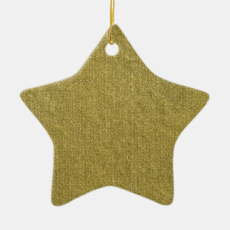 Miscellaneous - Gold Textures Patterns Forty-Nine Ceramic Star Decoration