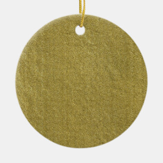 Miscellaneous - Gold Textures Patterns Forty-Nine Round Ceramic Decoration