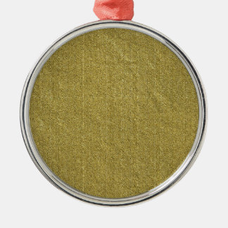 Miscellaneous - Gold Textures Patterns Forty-Nine Silver-Colored Round Decoration