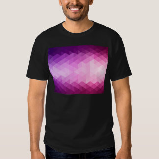 Miscellaneous - Purple Heated Polygons Pattern Tshirt